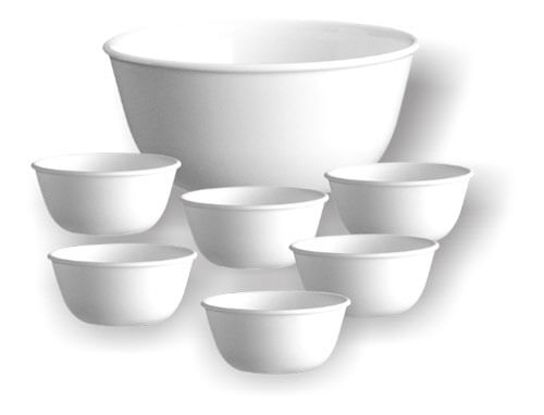 Corelle 6 Katoris + 1 Curry Bowl (Round)