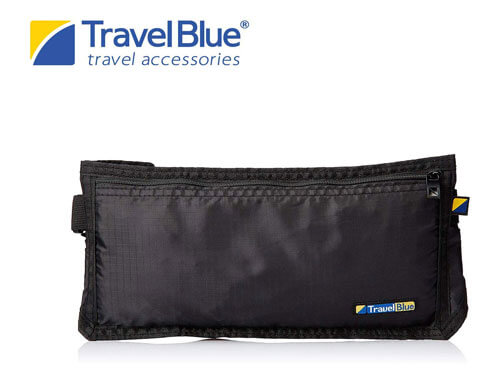 Travel Blue Black Security Money Belt